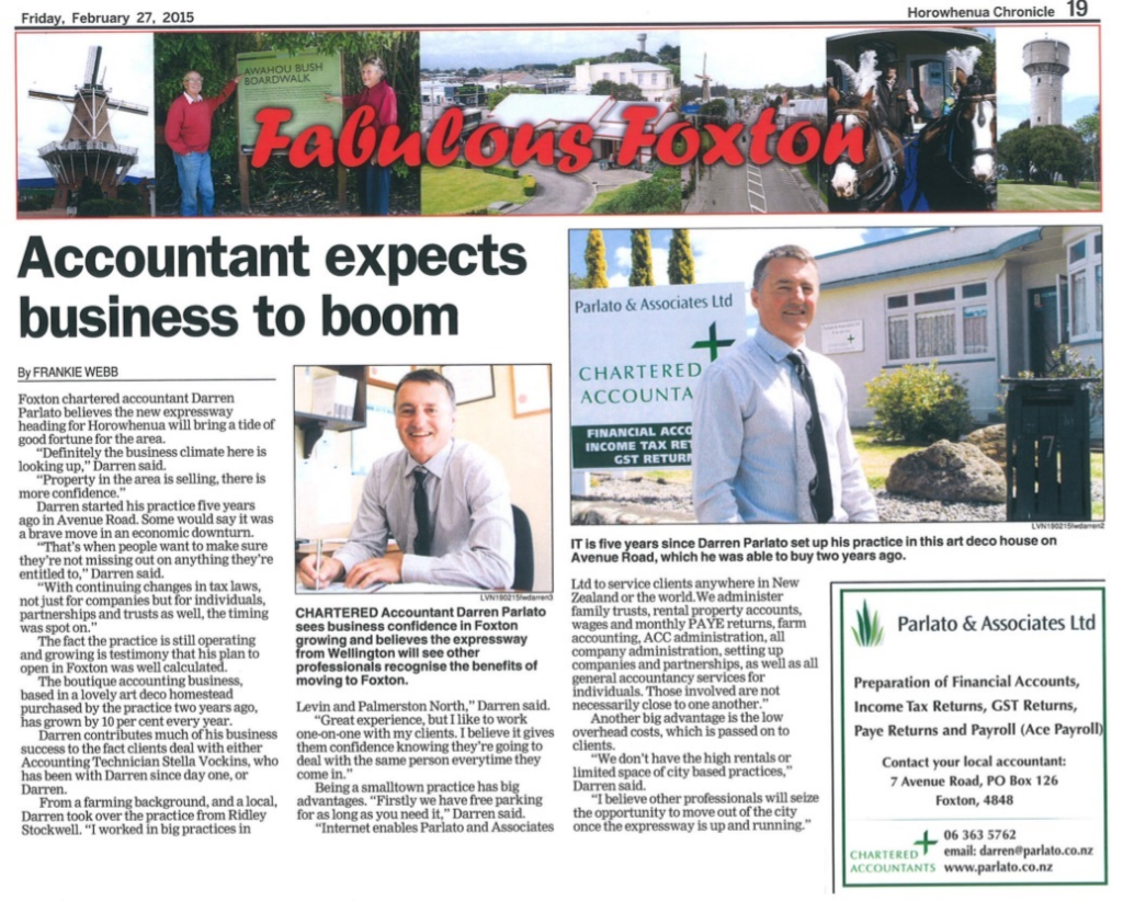 Fabulous Foxton - Accountant